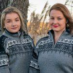 Trysil grå stickad norsk tröja
